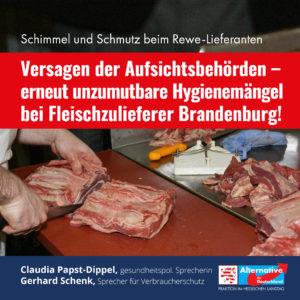 Read more about the article Erneut unzumutbare Hygienemängel bei Fleischzulieferer Brandenburg