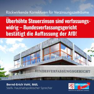 Read more about the article Überhöhte Steuerzinsen sind verfassungswidrig!
