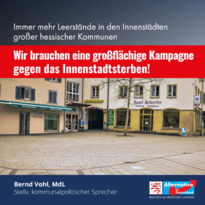 """Read more about the article """"Landesregierung tut nicht genug gegen das Innenstadtsterben"""""""