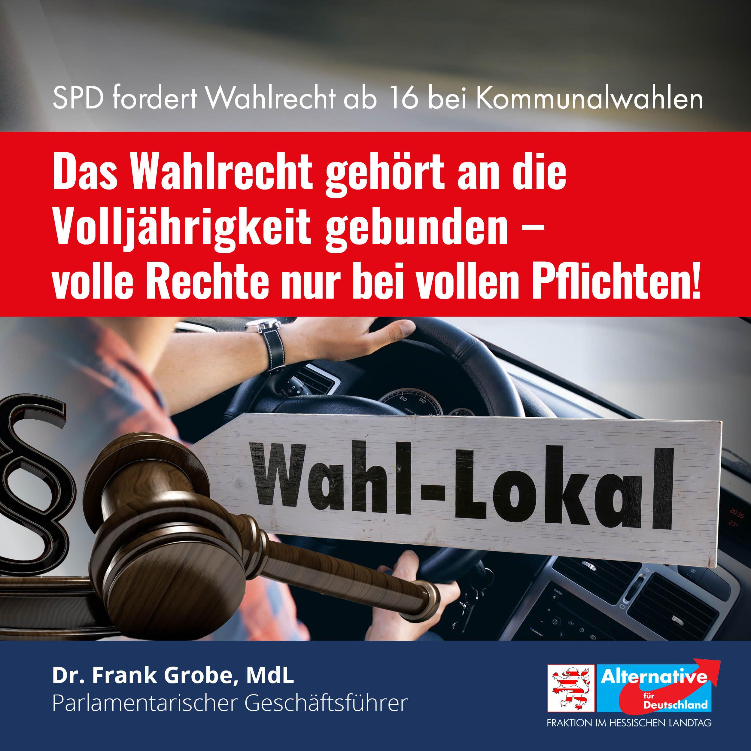 "Read more about the article ""Keine Absenkung des Wahlalters auf kommunaler Ebene"""