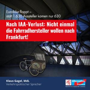"""Read more about the article """"Nicht einmal die Fahrradhersteller wollen nach Frankfurt"""""""