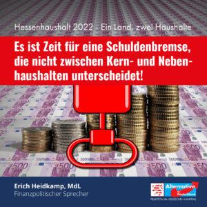 Read more about the article Hessenhaushalt 2022 – Ein Land, zwei Haushalte