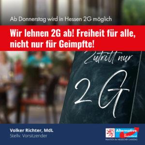 """Read more about the article """"2G ist für eine freiheitliche Demokratie ein Armutszeugnis"""""""