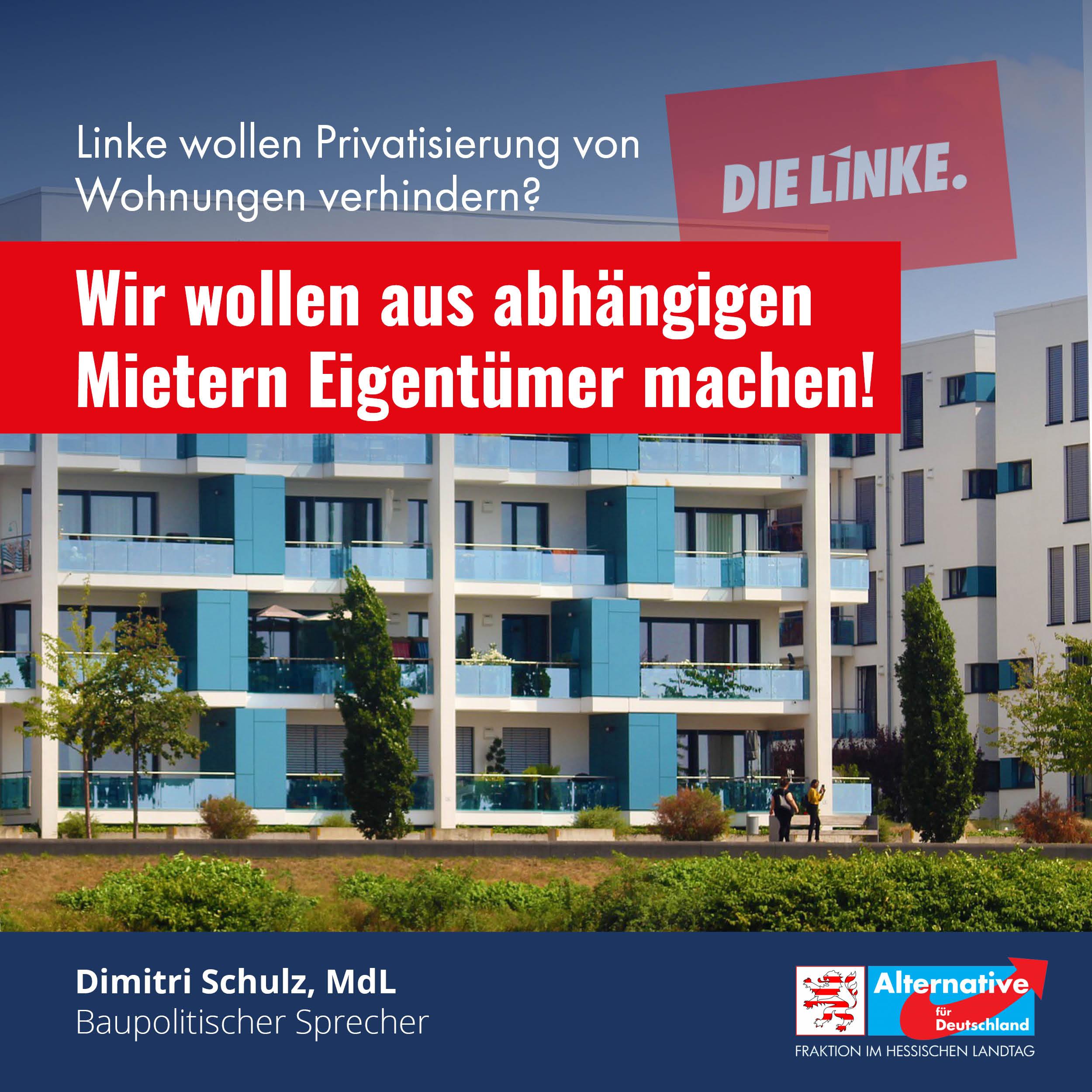 Read more about the article Durch den Verkauf wird keine einzige Wohnung vernichtet