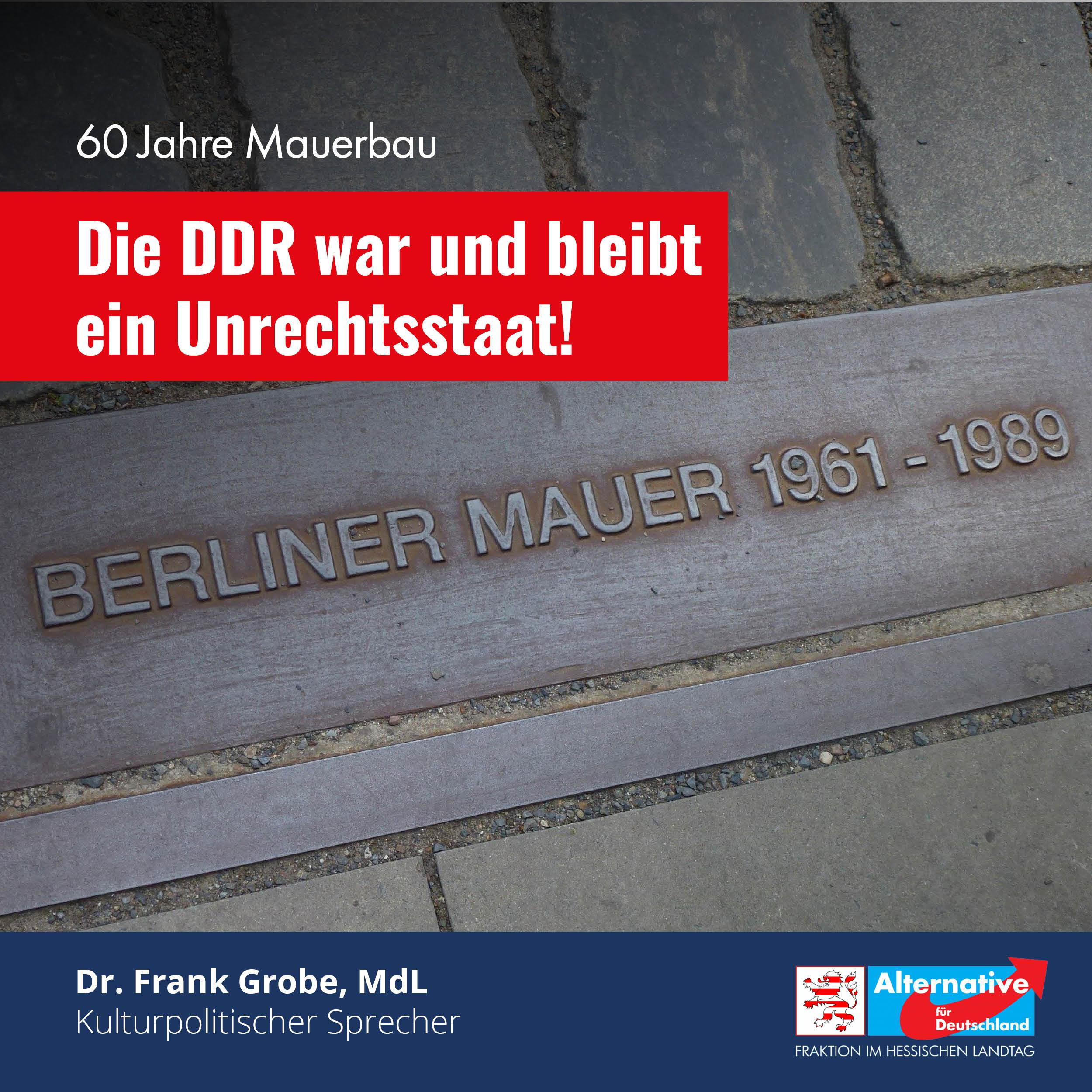 """Read more about the article 60 Jahre Mauerbau: """"Die DDR war und bleibt ein Unrechtsstaat"""""""