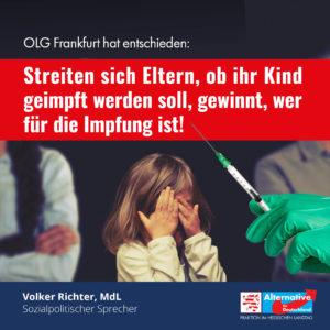 Read more about the article Bei Kinderimpfung: STIKO-Empfehlung wichtiger als körperliche Unversehrtheit?