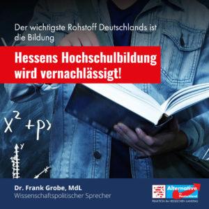 "Read more about the article ""Hessens Hochschulbildung wird vernachlässigt"""