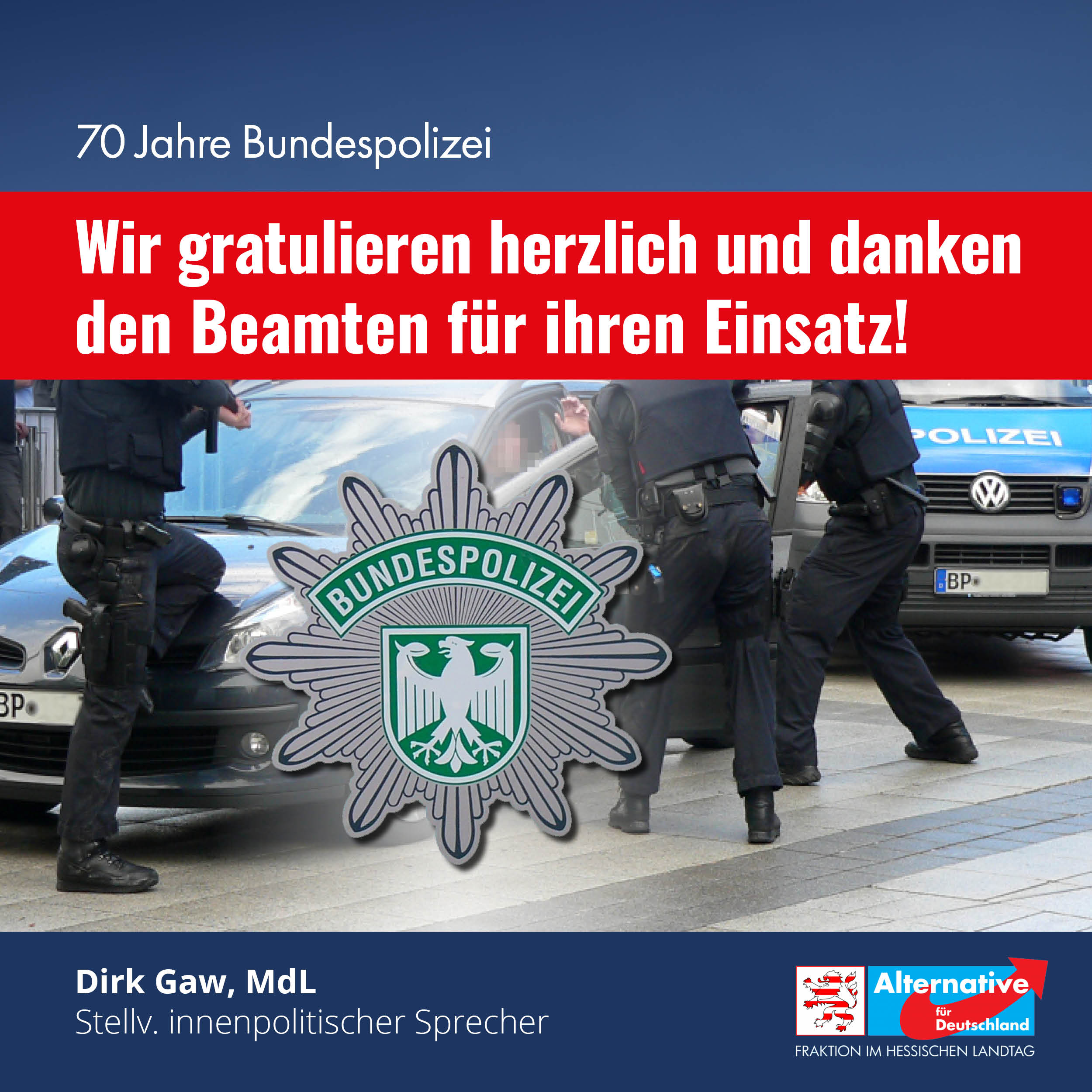 """You are currently viewing 70 Jahre Bundespolizei: """"Wir gratulieren herzlich"""""""