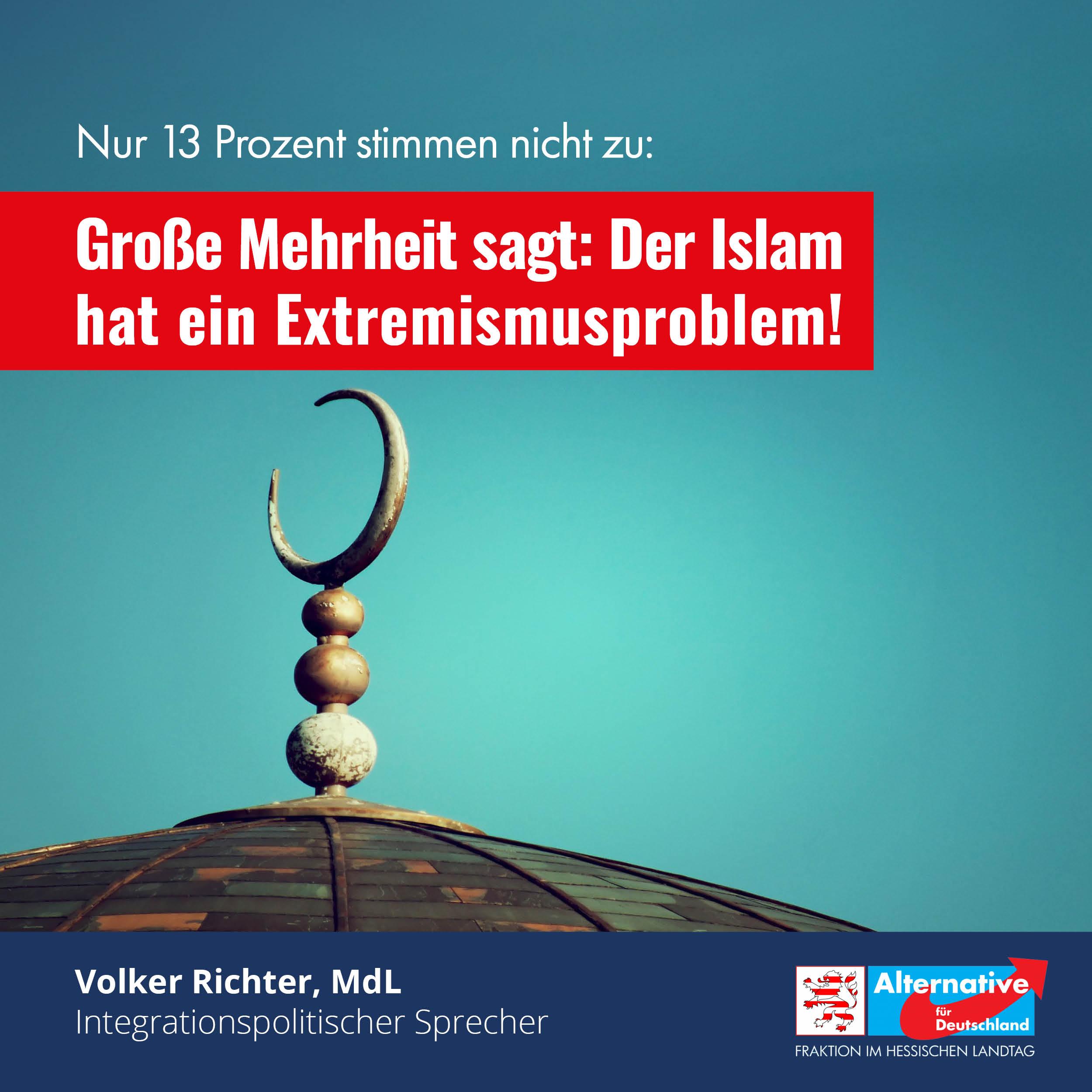 You are currently viewing Große Mehrheit der deutschen Bevölkerung sagt: Der Islam hat ein Extremismusproblem!