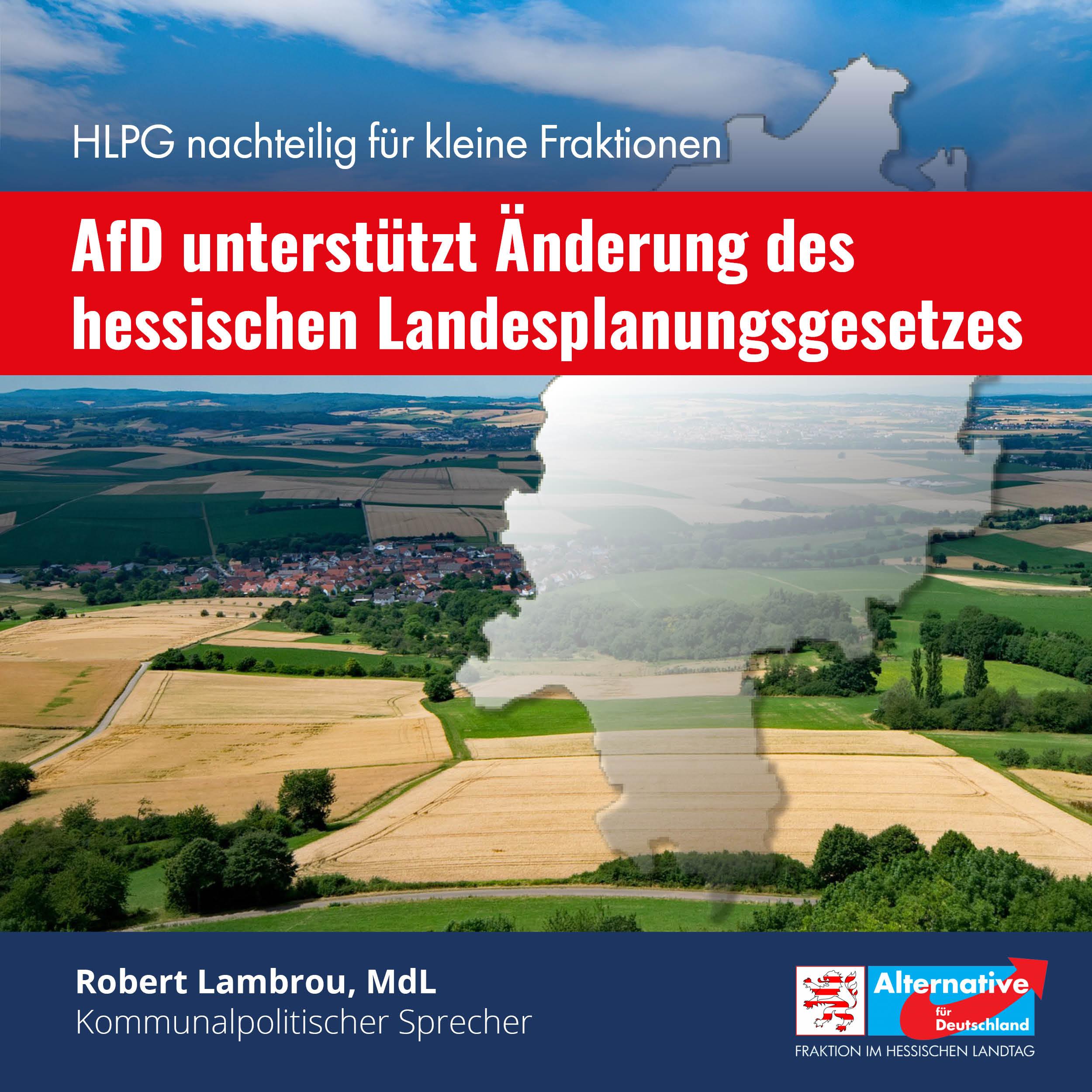 Read more about the article AfD unterstützt Änderung des Landesplanungsgesetzes