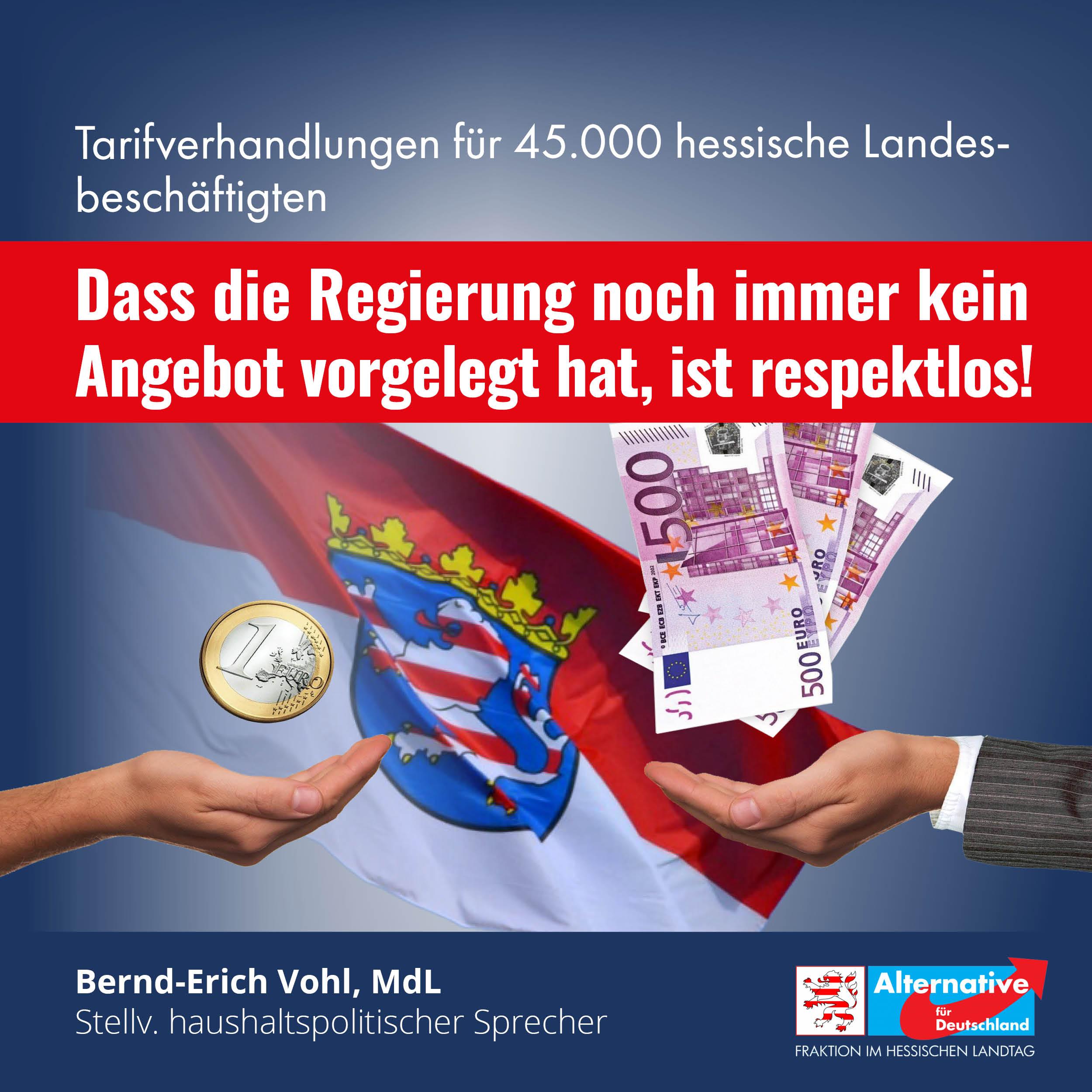 Tarifverhandlungen für 45.000 hessische Landesbeschäftigten