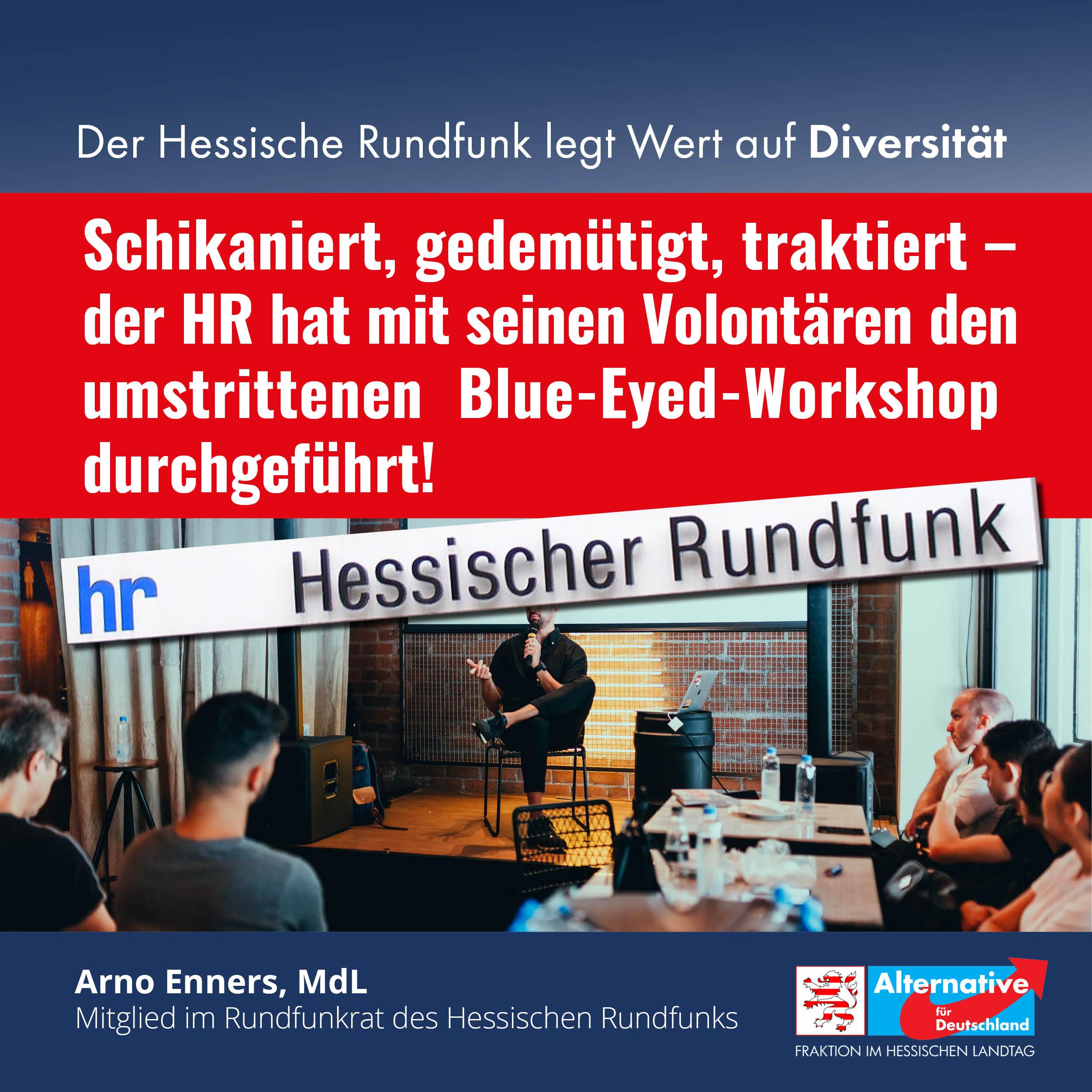 umstrittenen Blue-Eyed-Workshop
