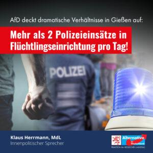 Read more about the article 2,5 Polizeieinsätze pro Tag