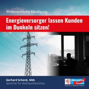Read more about the article Widerrechtliche Kündigung: Energieversorger lassen Kunden im Dunkeln sitzen