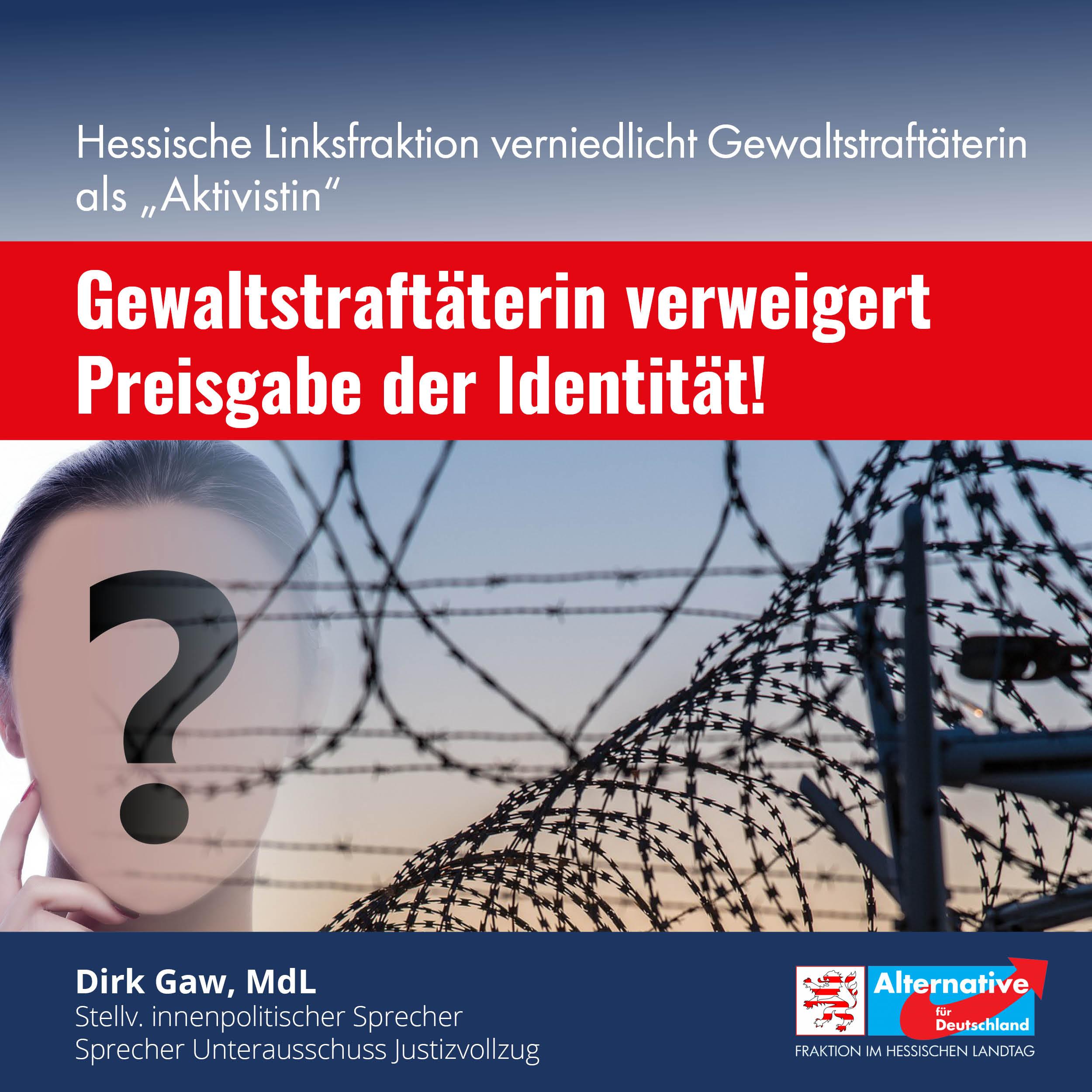 """Hessische Linksfraktion bezeichnet inhaftierte Gewaltstraftäterin verniedlichend als """"Aktivistin"""""""