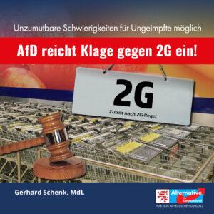 Read more about the article AfD reicht Klage gegen 2G ein