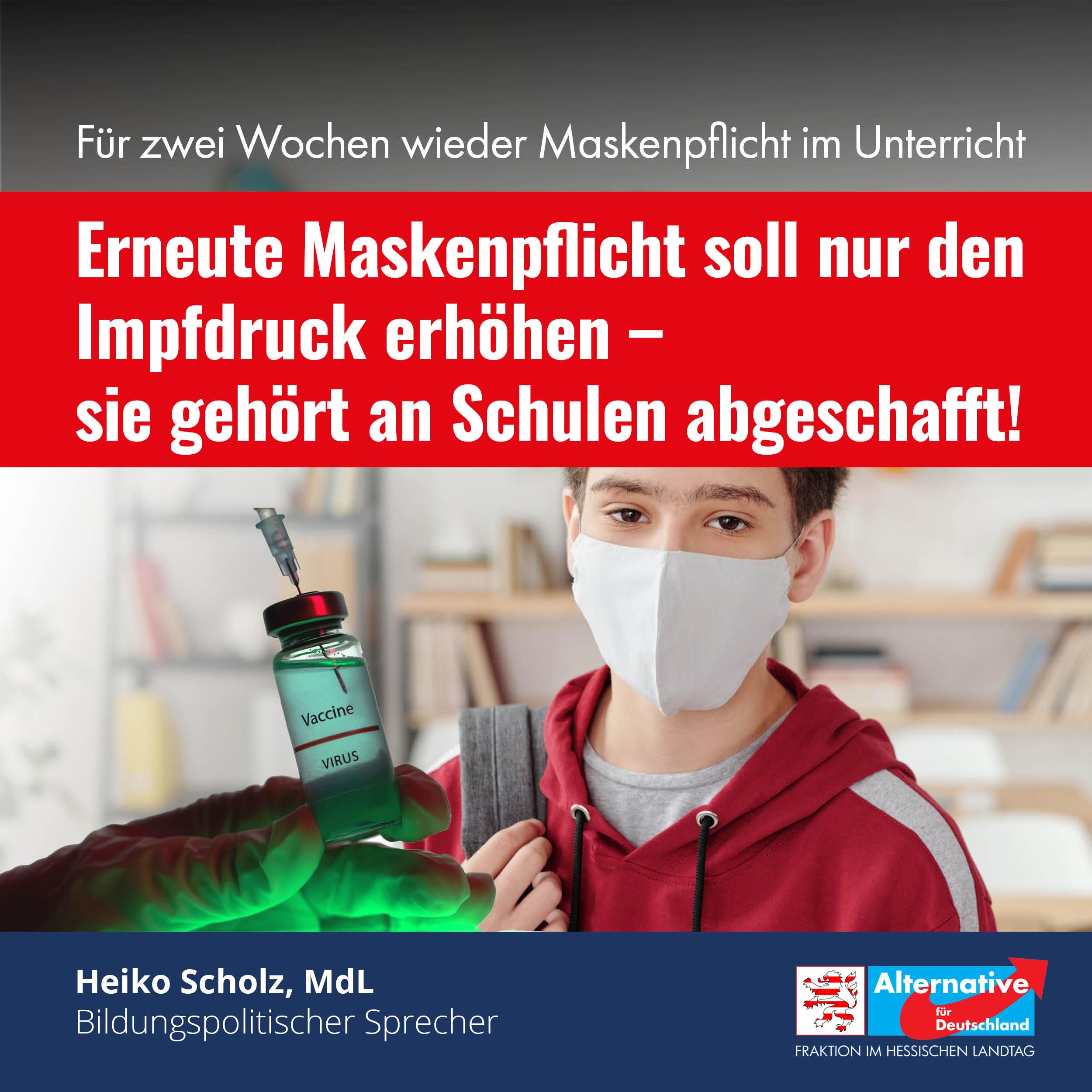 Neue Maskenpflicht an Schulen