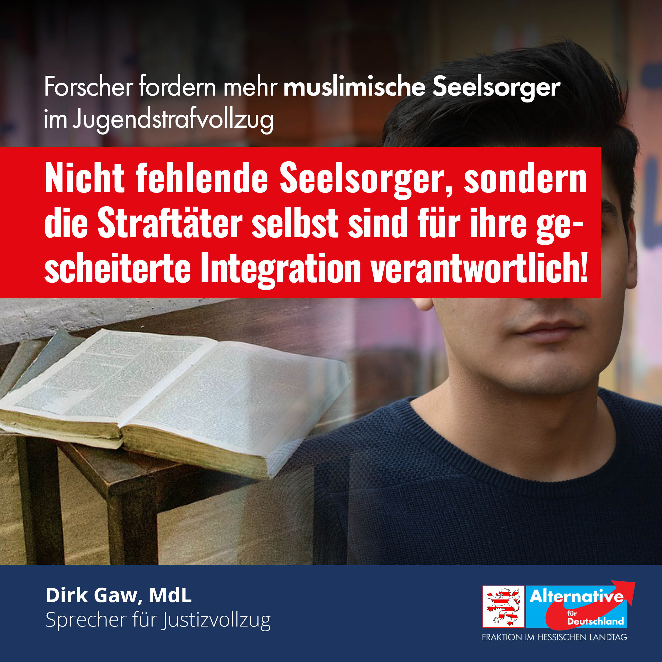 Read more about the article Forscher fordern mehr muslimische Seelsorger im Jugendstrafvollzug