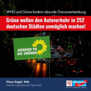 Read more about the article Grüne wollen den Autoverkehr in 252 deutschen Städten unmöglich machen