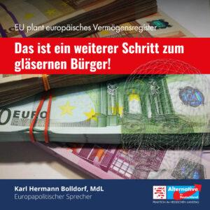 Read more about the article EU plant europäisches Vermögensregister