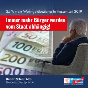 Read more about the article 25 % mehr Wohngeldbezieher in Hessen seit 2019